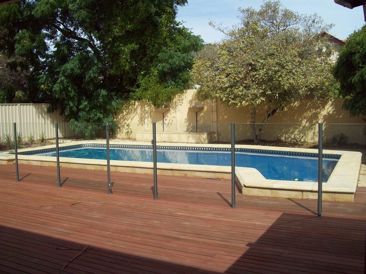 Semi frameless glass pool fence - Semi Frameless Glass Pool Fence